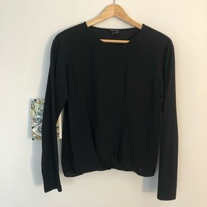 Theory Silk Front T Shirt Blouse
